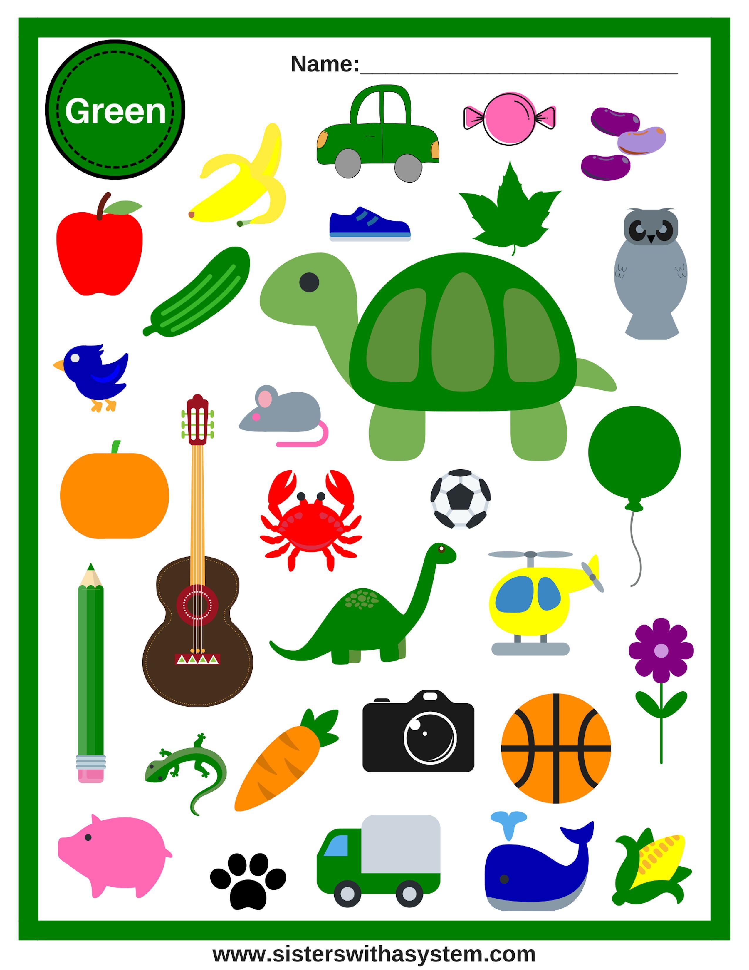 Color Look And Find Sheets Preschool Colors Color Worksheets For Preschool Teaching Colors [ 3300 x 2550 Pixel ]