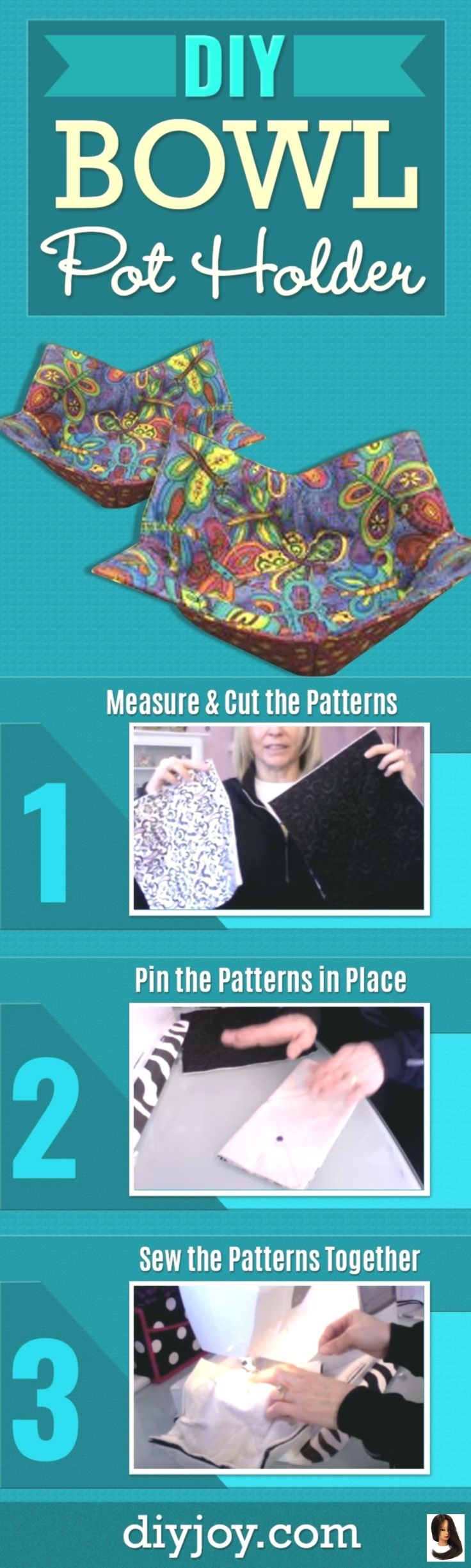 home decor tutorials Sewing Tutorial: Insulated Heat Protectors for Bowls        DIY Bowl Potholder - Easy Sewing Projects With Free Sewing Patterns - Youtube Video and Step by Step Tutorial for DIY Kitchen Home Decor