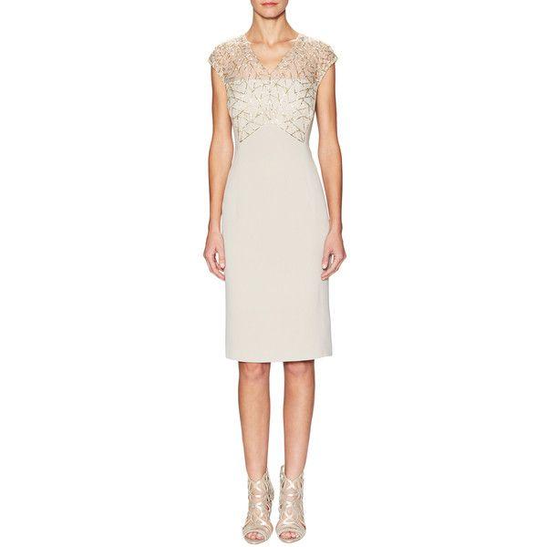 Escada Dorithe Silk Sheath Dress With Embellishment 1 399
