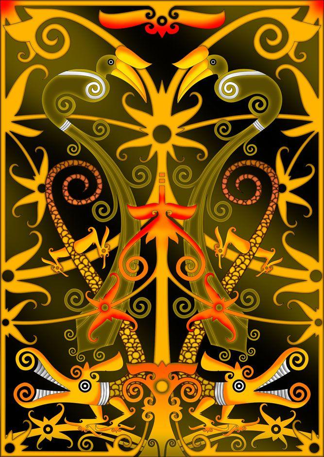 Background Motif Dayak : background, motif, dayak, Dayaknese, Pattern, SteraMamanSoba, DeviantArt, Event, Poster, Design,, Borneo, Tattoo,, Paint, Background