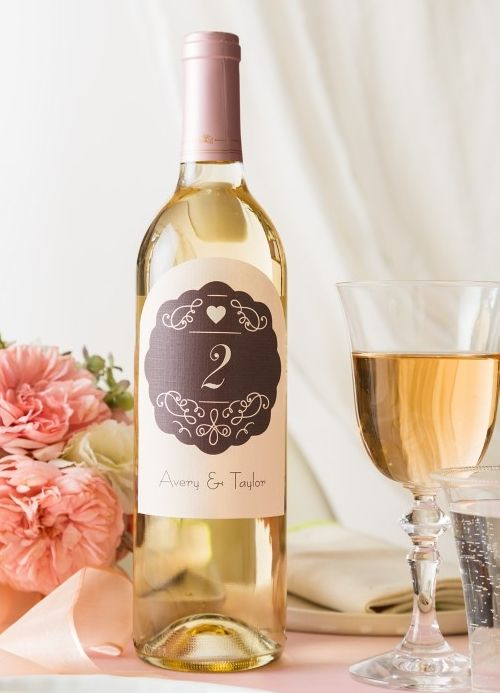Simple Diy Wedding Table Numbers These Were Made With Avery Arched