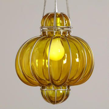 Decorating and Home --Yellow Glass Venetian Pendant $69.99