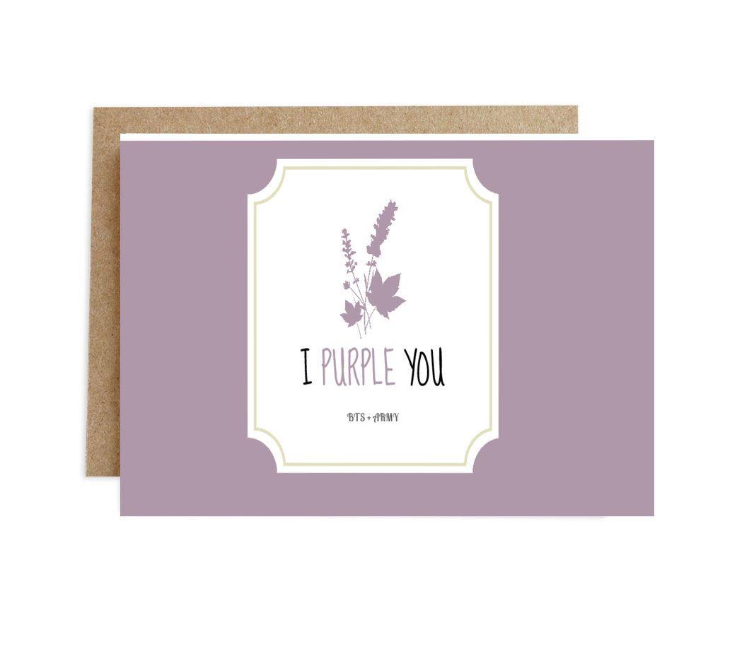 Bts Greeting Card Bts Army 1 Handmade Photocard Card