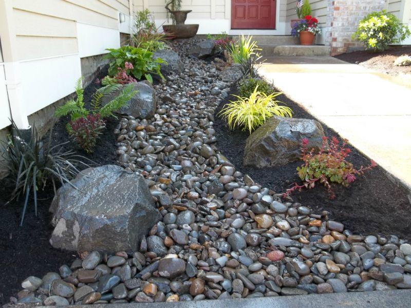 dry creek bed-rock-plants-boulders