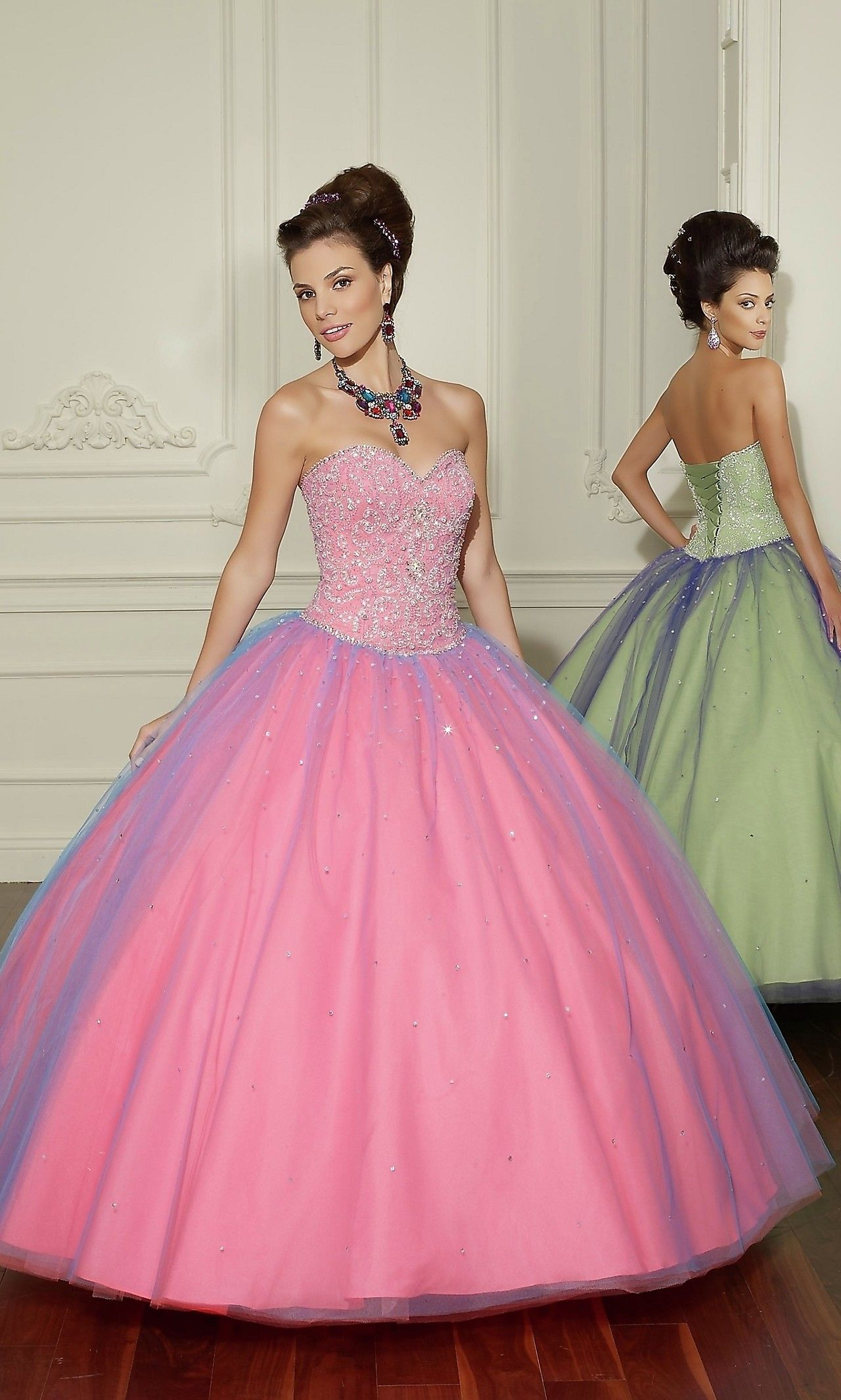 Beaded Tulle Quinceanera Dress by Mori Lee...WANT. | Prom ...