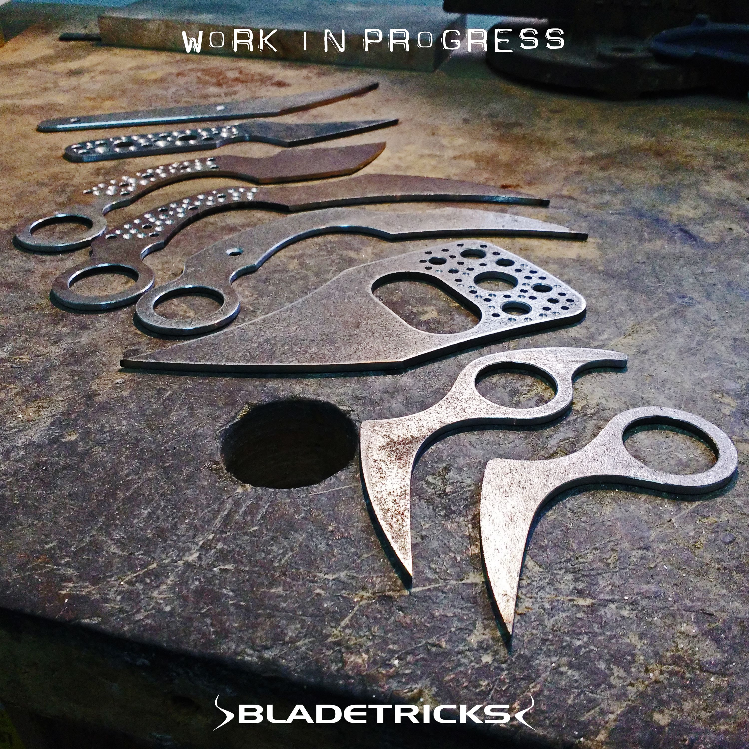 Ready for grinding some knives and karambits at the Bladetricks shop
