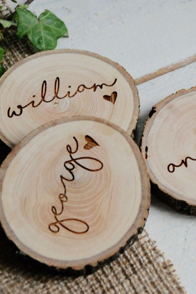 Personalised wedding favours are such a lovely touch! How about these wooden coaster wedding favours? Perfect for a rustic themed wedding!