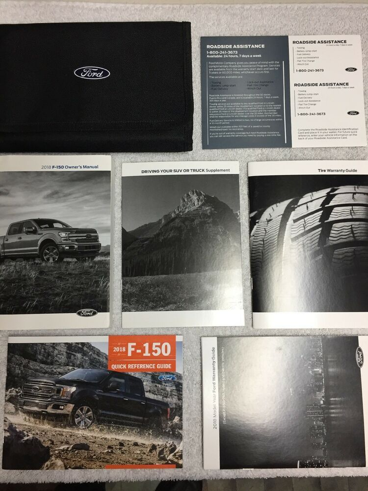 F 150 Owners Manual 2018 Carrying Case Ebay Owners Manuals 2018 Ford F150 Ford F150