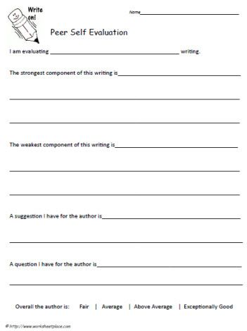 Project Evaluation Template General Performance Evaluation Form