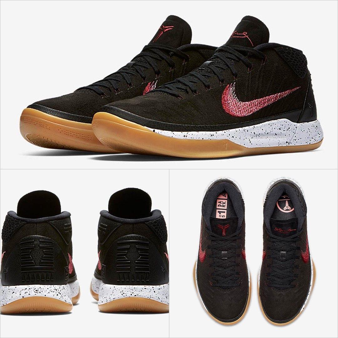 Nike Kobe Ad Mid 922484 006 Retro Shoes Black Nike Shoes Athletic Wear Fashion Nike