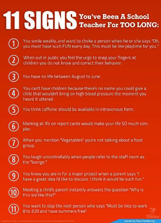 11 Signs You Ve Been A School Teacher For Too Long Poster Teacher Humor Retirement Quotes Funny Teacher Poems