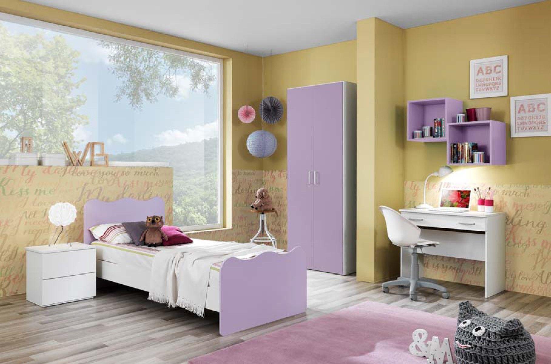 Cameretta Lilla Ikea : Cameretta completa linea onda con letto singolo bianco frassinato e