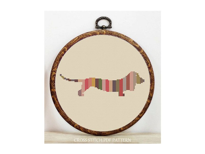 CHRISTMAS SALE-40% OFF-Dachshund dog cross stitch pdf pattern. Instant download. by HOBIKOLIK on Etsy https://www.etsy.com/listing/176135058/christmas-sale-40-off-dachshund-dog