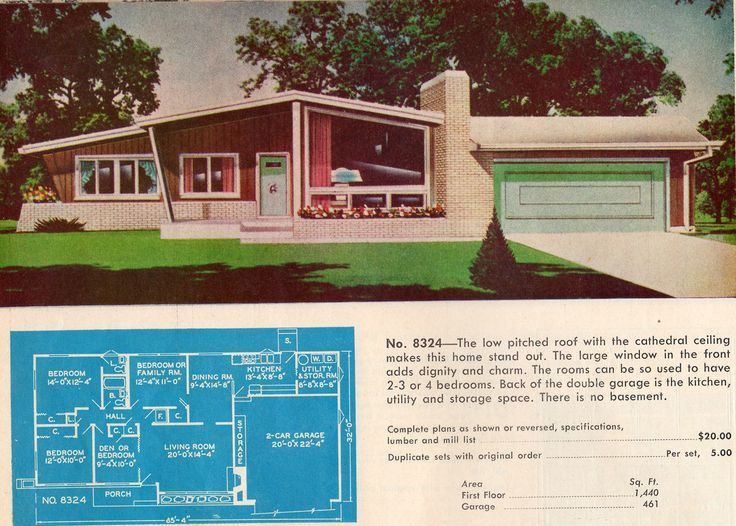 Vintage small town america and suburbs google search for 1950s council house floor plan