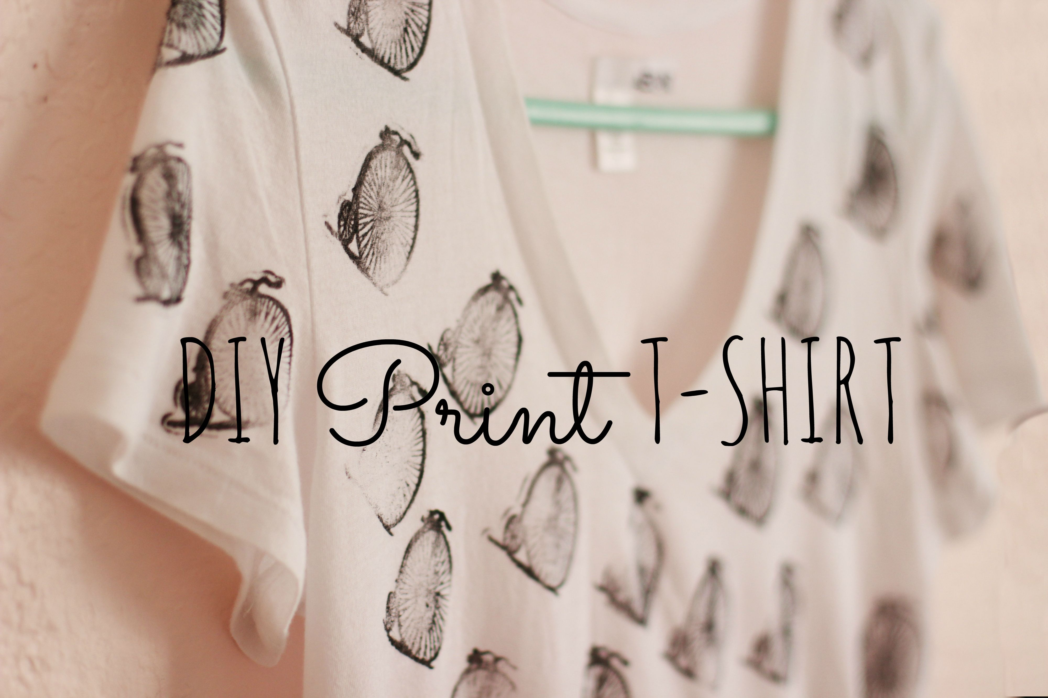 Diy rubber stamp print t shirt super easy i wanna for Stamp t shirt printing