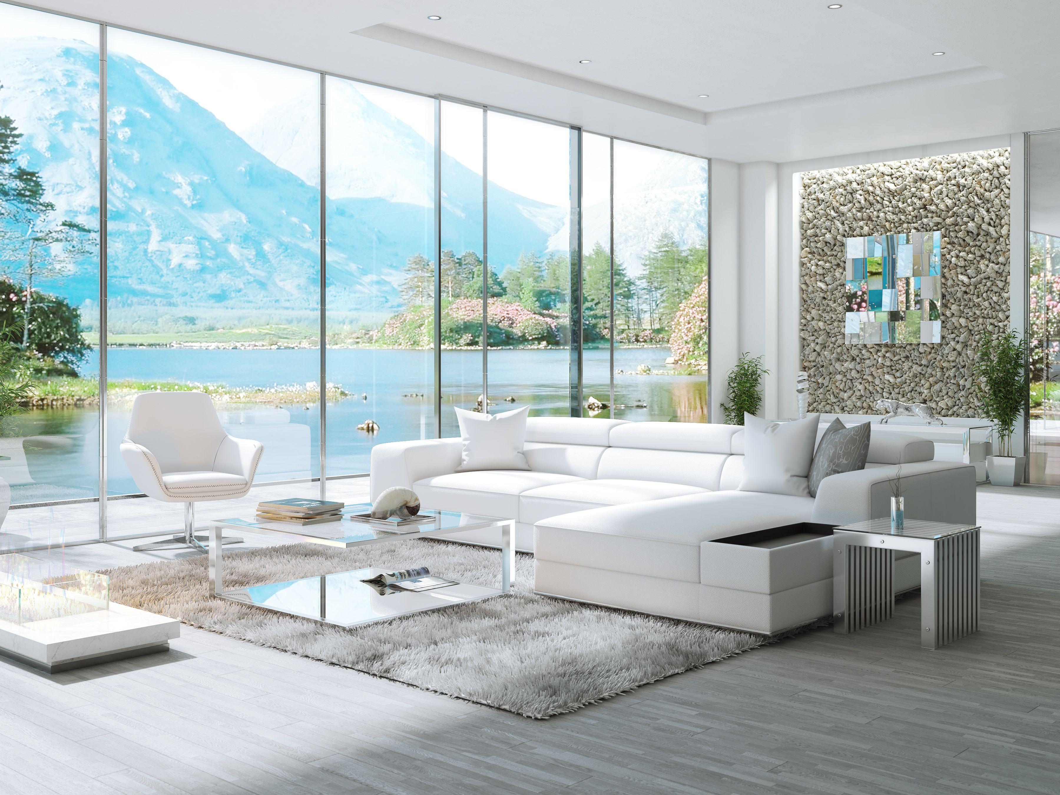 Awe Inspiring Bergamo Sectional Leather Modern Sofa White Dad Home In Evergreenethics Interior Chair Design Evergreenethicsorg