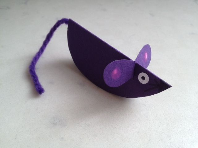 Paper Mouse Mouse Craft Mouse Craft Tutorial Mice Craft Ideas