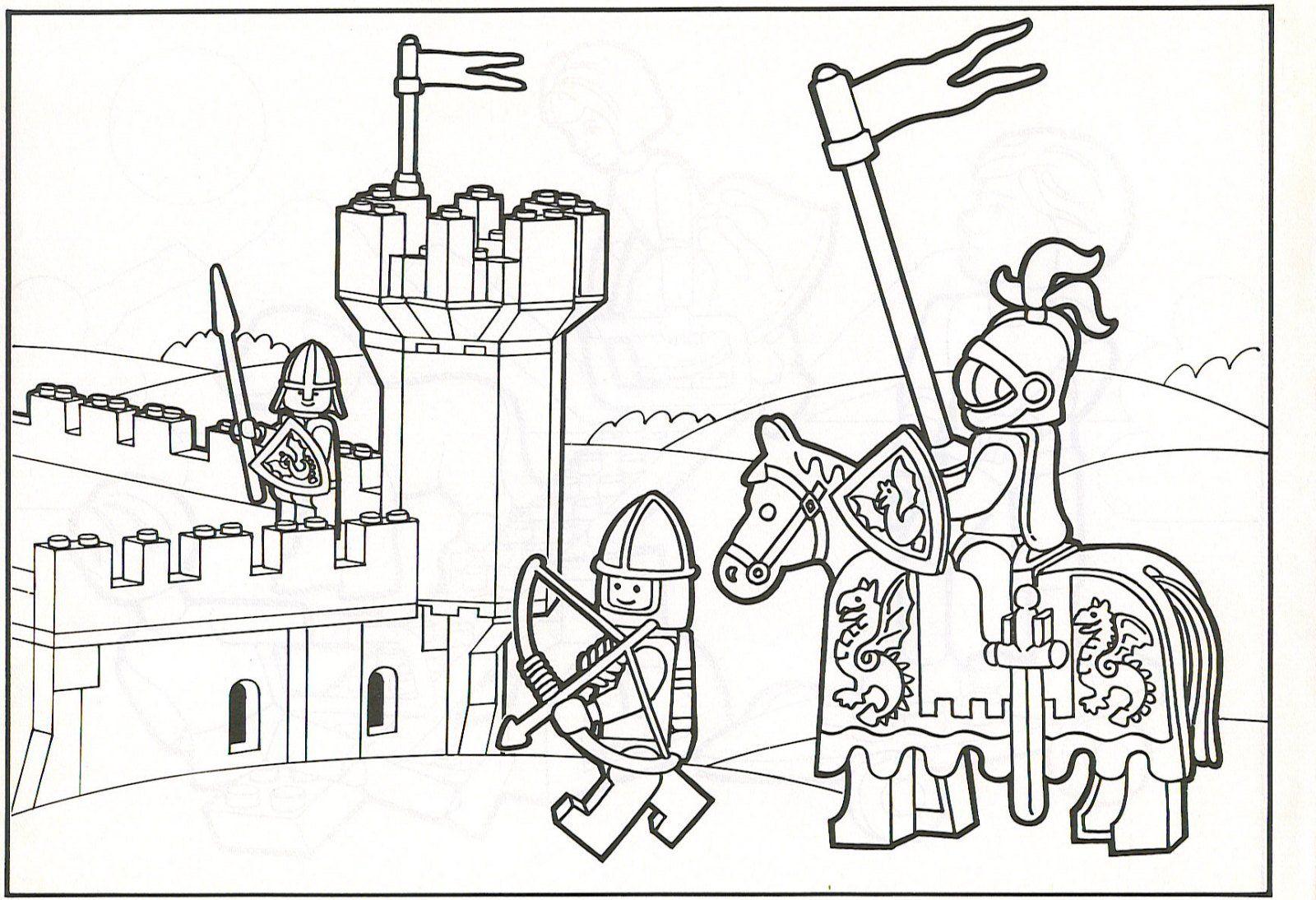 Caballeros Lego | Para colorear | Pinterest | Legos, Dibujos de y ...
