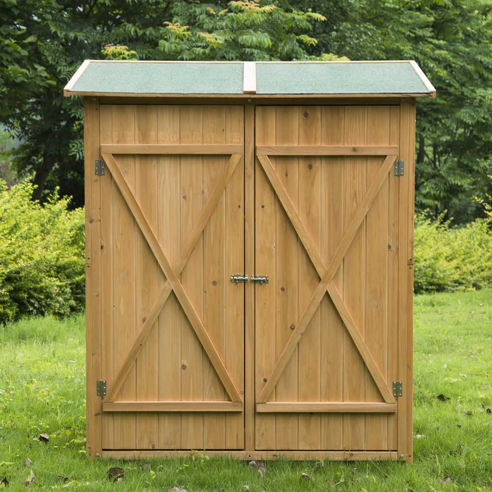summer aosom wooden sheds shed garden outsunny uk patio co lawn football storage sale