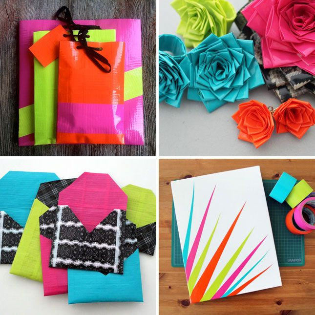 our favorite duct tape diy projects free giveaway. Black Bedroom Furniture Sets. Home Design Ideas