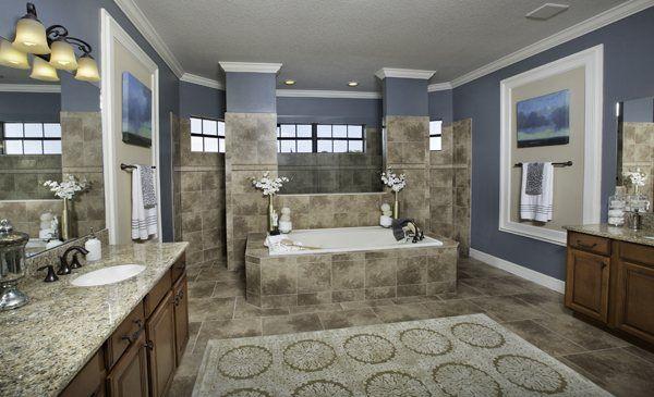 Luxurious Master Bath With Walkthrough Shower Bathrooms Pinterest Home Walk Through Shower And Bathroom Spa