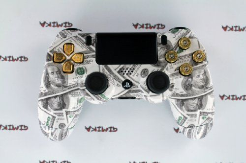 quotmoney talksquot ps4 custom modded controller w real gold