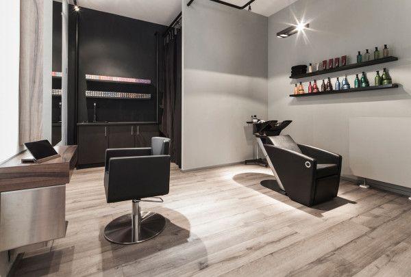 A Minimalist Hair Salon In Dusseldorf Home Hair Salons Hair Salon Design Hair Salon