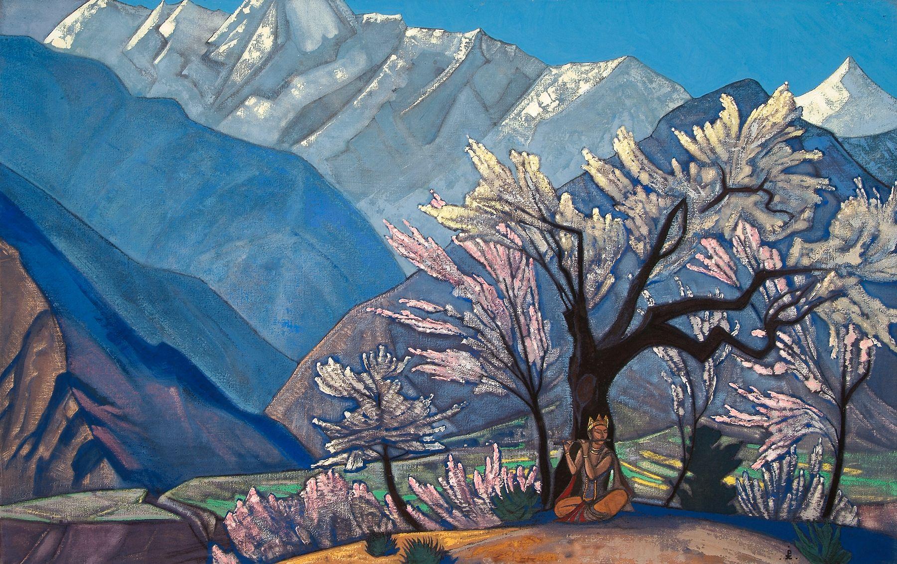 "Fire Blossom Fine art print NEW 20/"" x 28/"" By Nicholas Roerich"