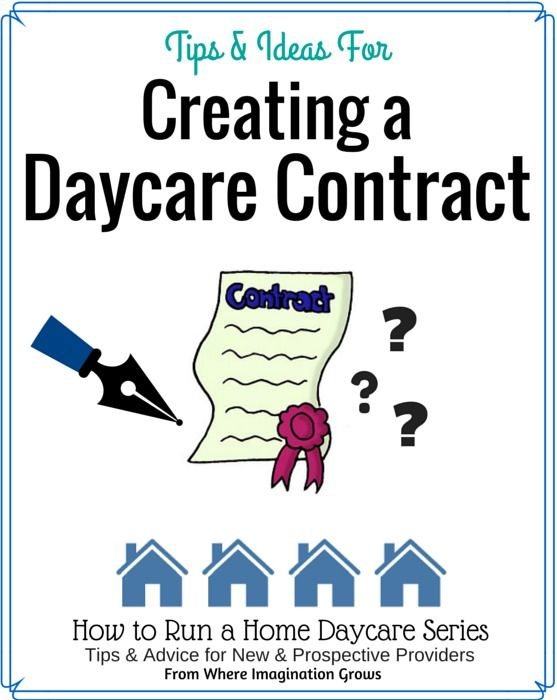 Creating a Home Daycare Contract | Daycare contract, Advice and Create