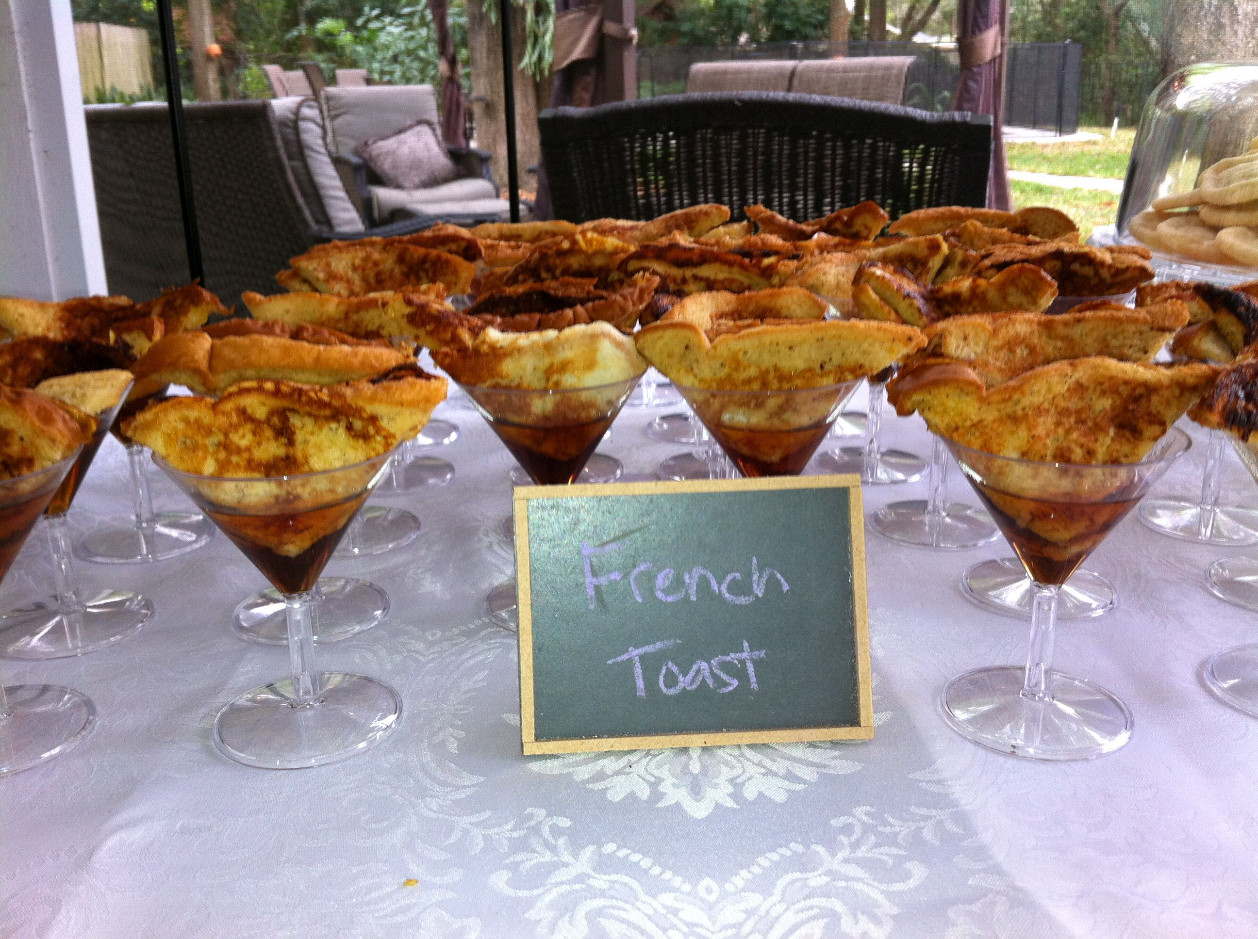 Bridal Shower Brunch Our mini french toast bites