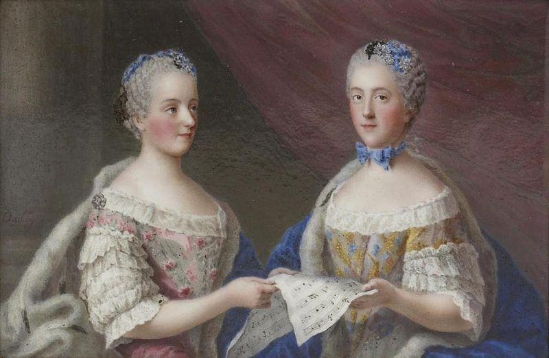 Madame Victoire and Madame Sophie de France, legitimate daughters ...