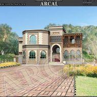 تصاميم فلل اماراتية Modern House Exterior House Layouts Islamic Architecture