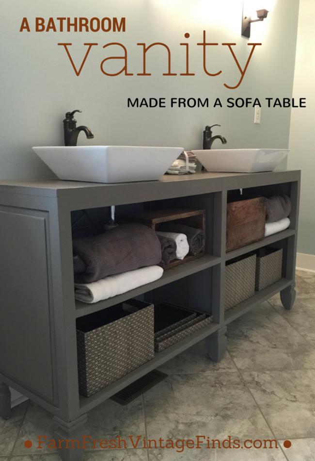 Repurposed Cottage Style Vanity Bathroom Vanity Makeover Diy