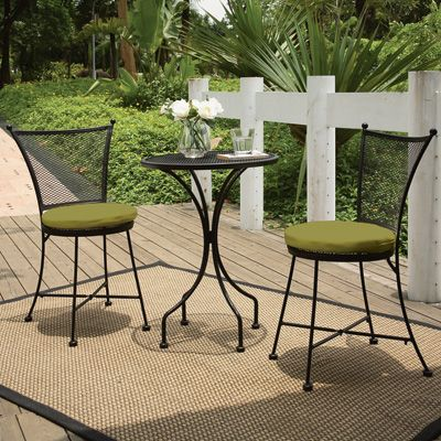 3 Pc Bistro Set Perfect For The Patio 100 Outdoor Patio Set Outdoor Patio Decor Patio Furniture