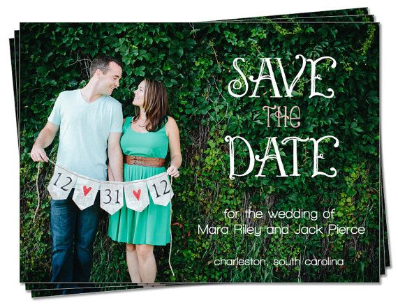 PRINTABLE  Wedding Save the Date Photo Card by palmettomama, $15.00