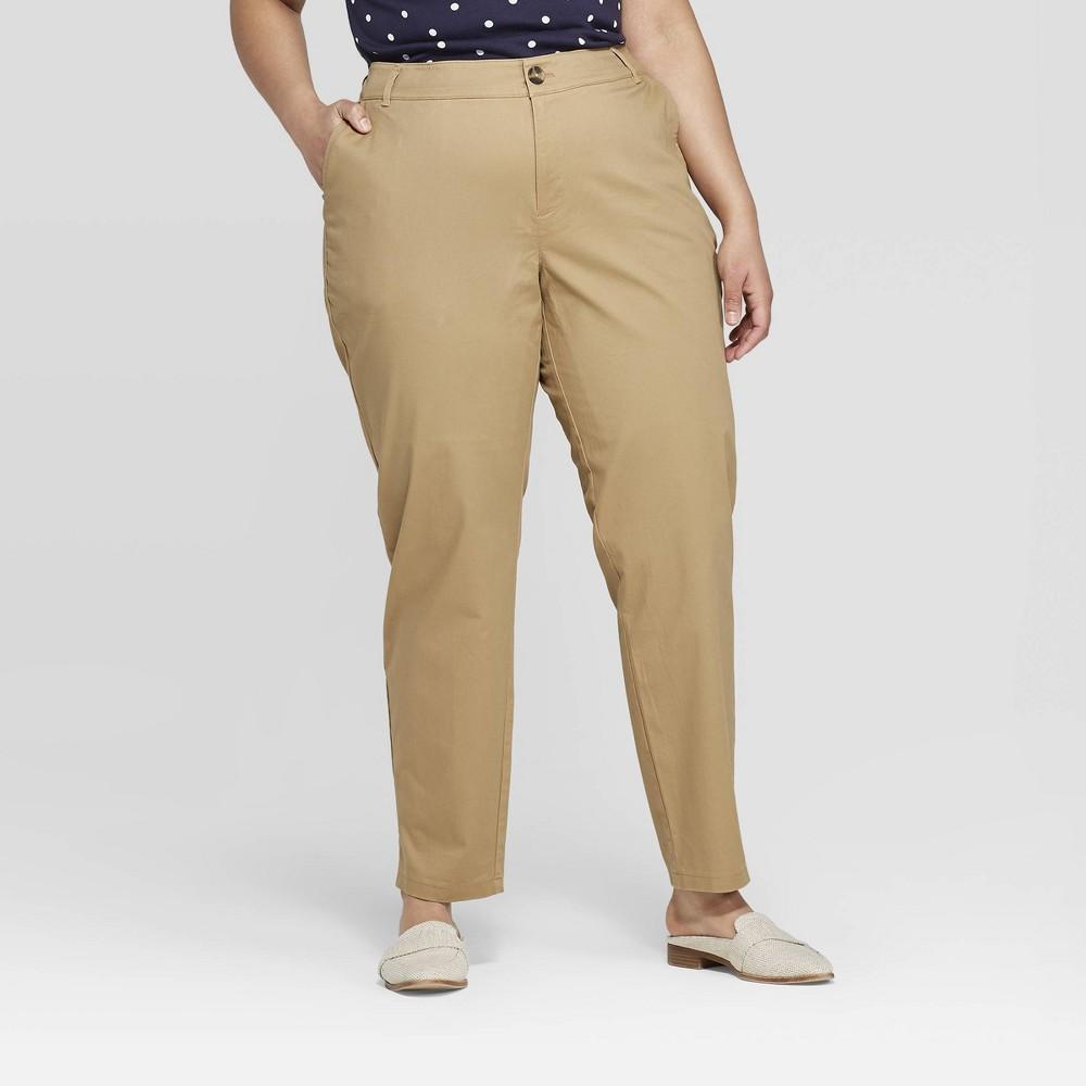 a497f8e1039 Women s Plus Size Slim Fit Chino Pants - Ava   Viv Navy (Blue) 14W ...