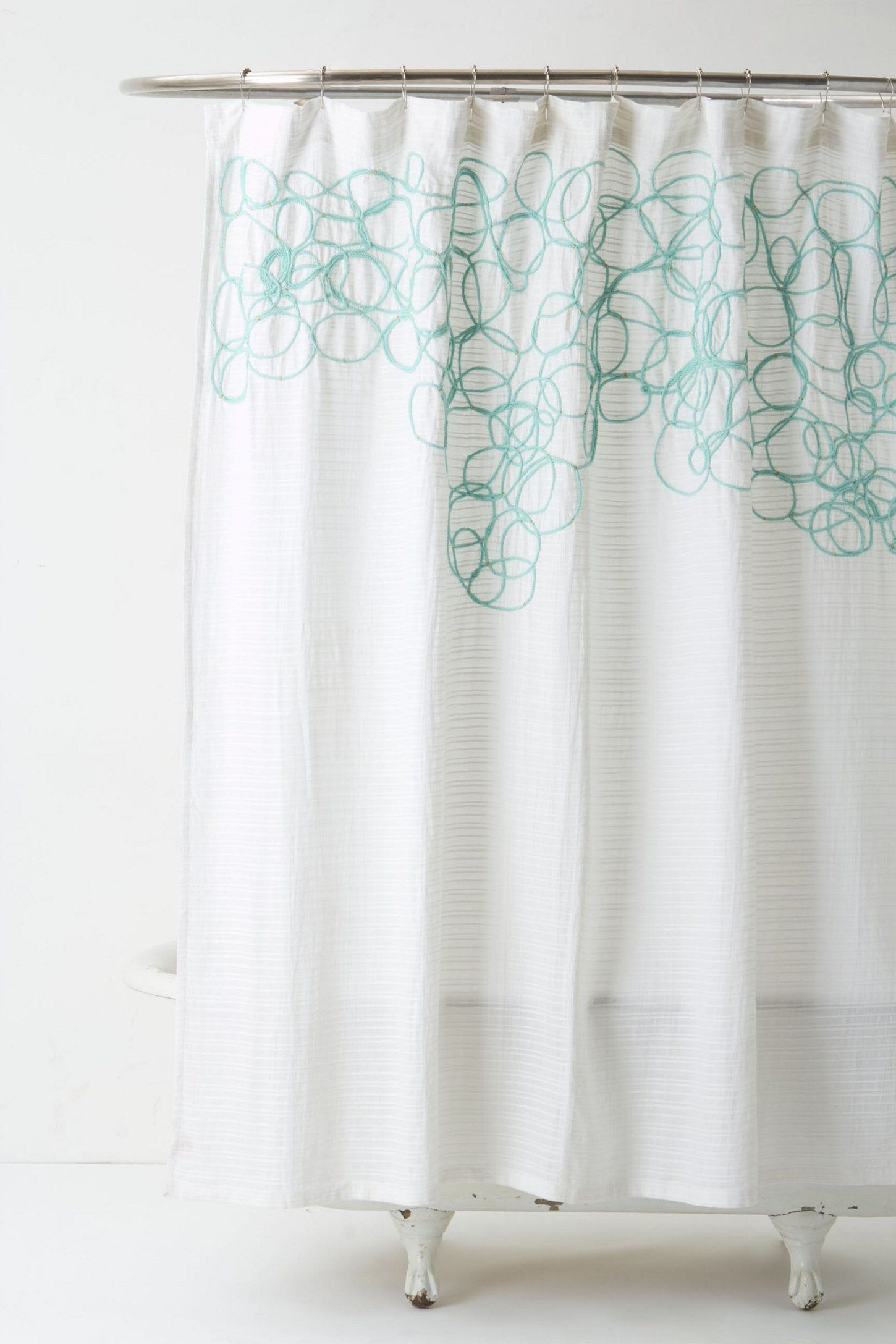 Looped Knotted Shower Curtain Anthropologie Com