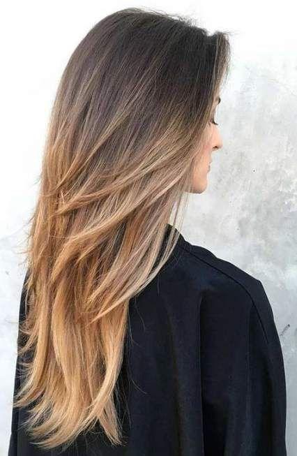 Photo of 68+ trendiger Haarschnitt für langes Haar mit geraden schulterlangen Schichten # Haar #haar …