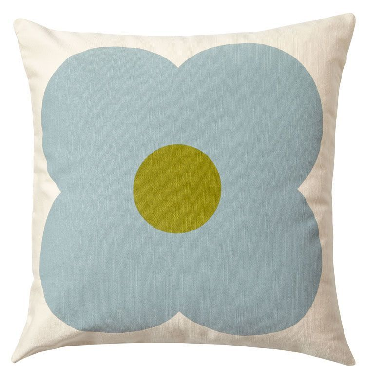 Orla Kiely Giant Abacus Cushion Olive and Duck Egg