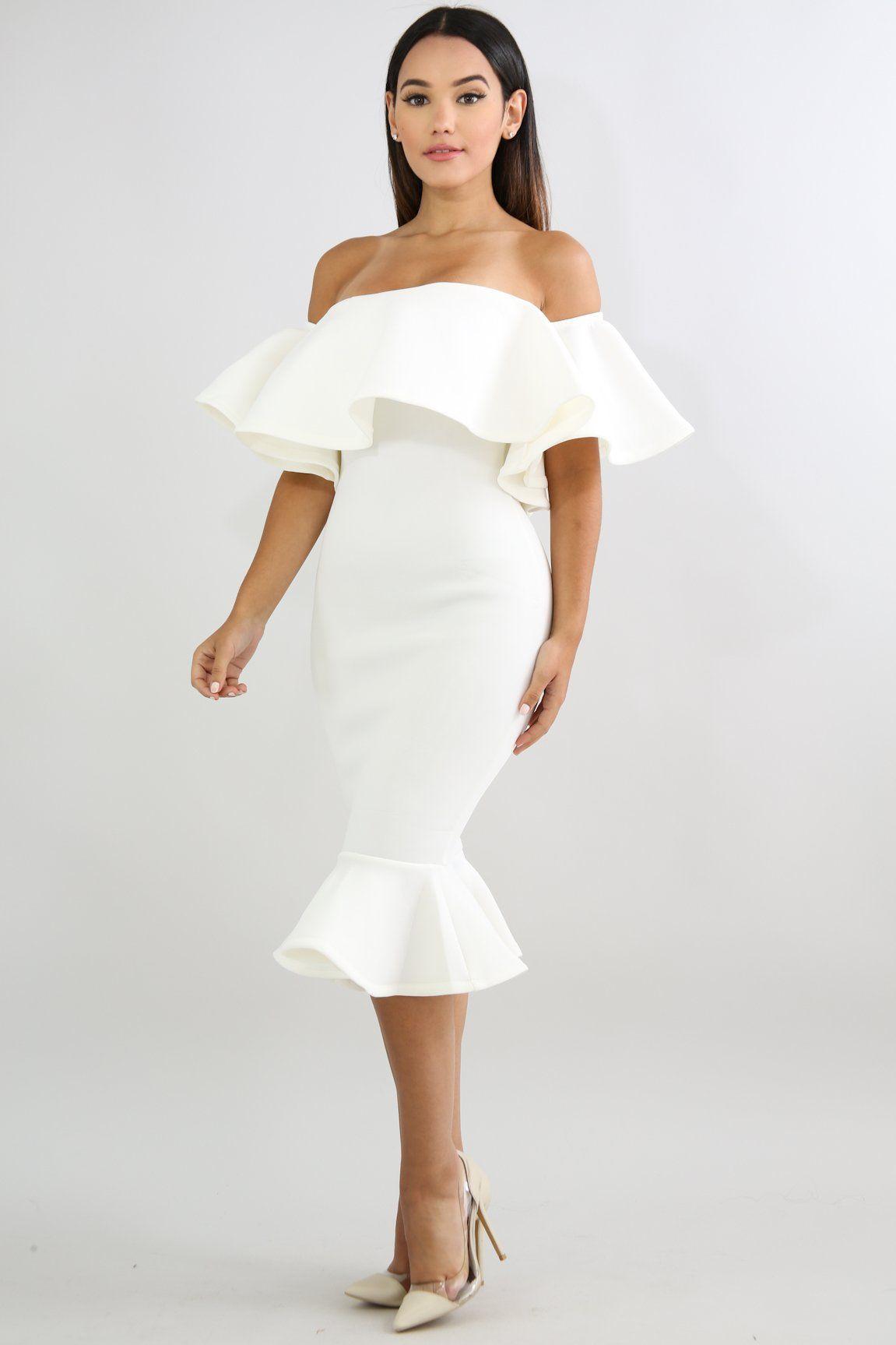 7c632cb7f553 Solid Flare Mermaid Body-Con Dress in 2019 | Graduation Dress ...