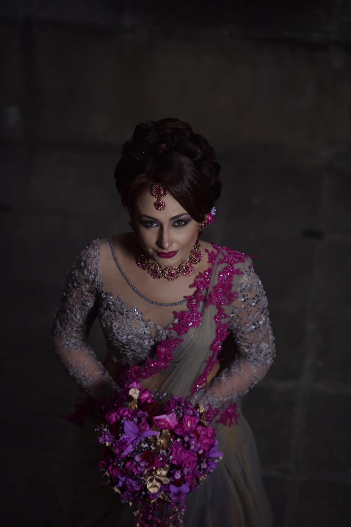 Sri Lankan bride - Hair makeup dressing & dress design by-Michelle vanlangenberg | Indian ...