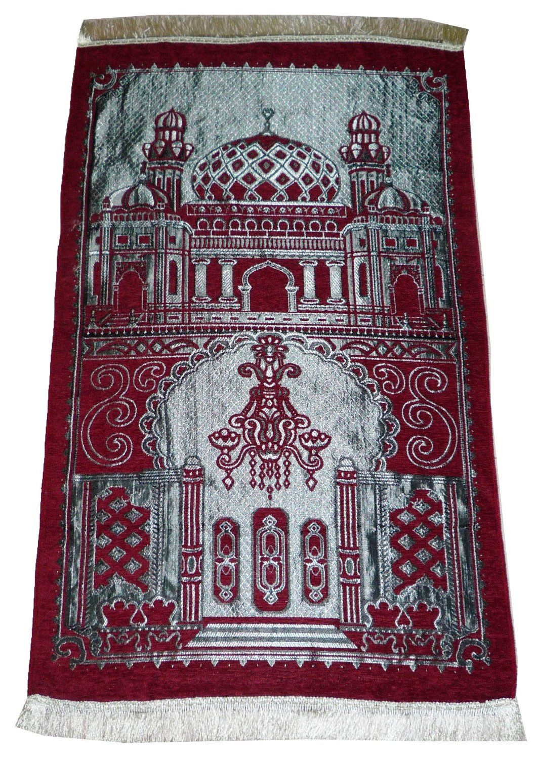 Amazon Com Istanbul Islamic Prayer Rug Islam Sajadah Lightweight Mat Carpet Masjid Design Muslim Gift Red Kitchen Dining Prayer Rug Rugs Islamic Prayer