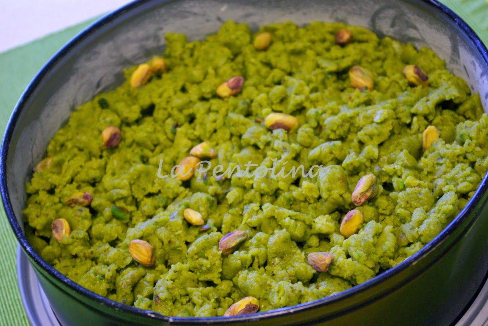 La pentolina ...   appunti di cucina: Sbrisolona al pistacchio di Bronte con crema al ci...