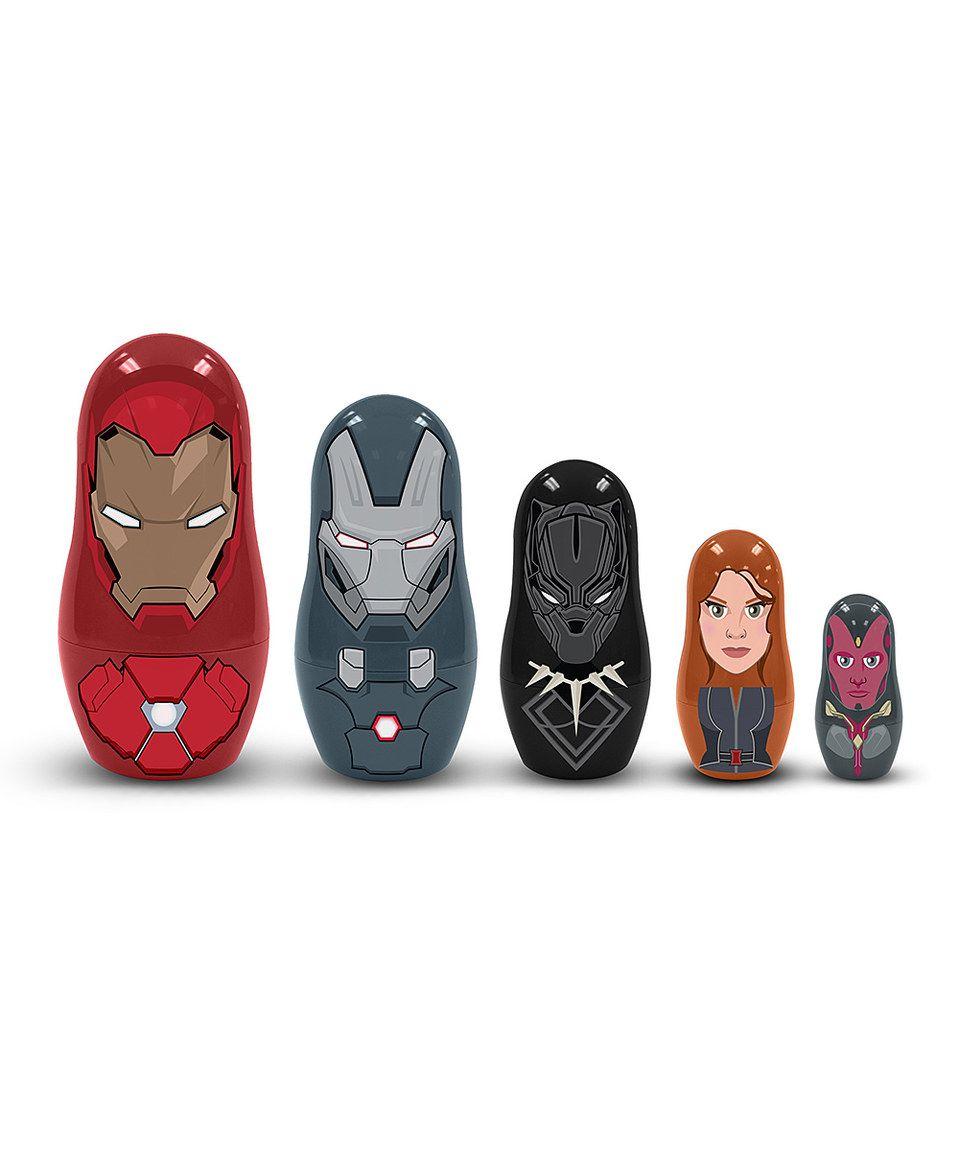 PPW Toys CAPTAIN AMERICA 3 #NEW Team: Iron Man Nesting Doll 5-Piece Set