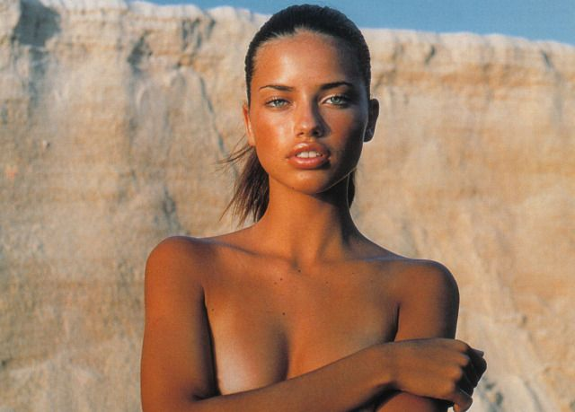 """— Adriana Lima in """"Sol e Sal"""" photographed by..."""