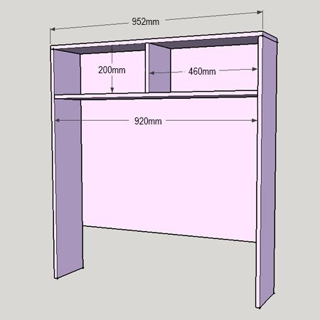 HOME DZINE Home DIY | Child\'s bed with bookshelf or storage ...
