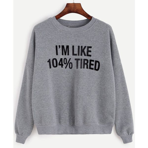 Grey Letter Print Drop Shoulder Sweatshirt (21 CAD) ❤ liked on Polyvore featuring tops, hoodies, sweatshirts, grey, drop shoulder sweatshirt, sweater pullover, pullover sweatshirt, print sweatshirt and long sleeve cotton tops