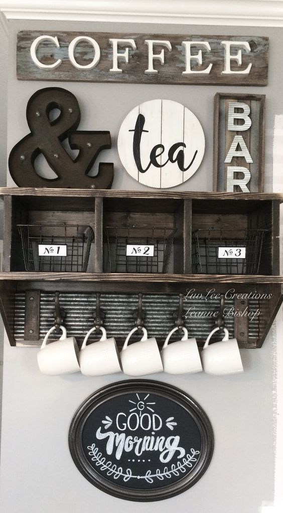 Coffee Bar Ideas - Re-Fabbed #coffeebarideas