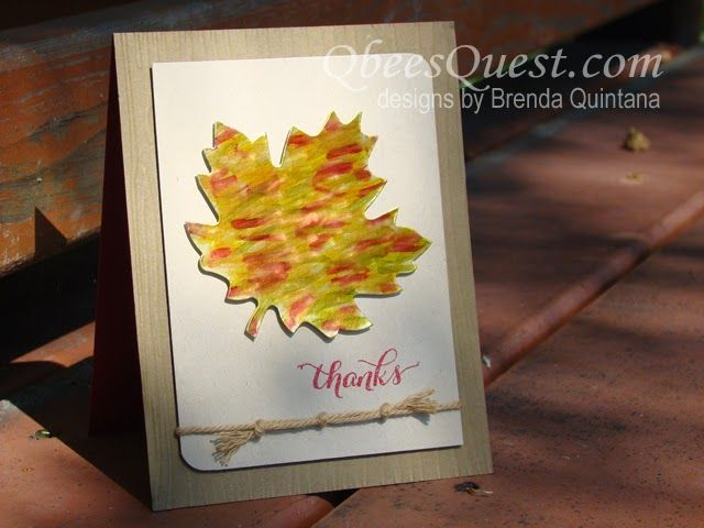 Blendabilities Gold Foil Leaf Card | Another Thank You, Autumn Accents Bigz Die, Gold Foil Sheets, Fall, Leaf, Stampin' Up