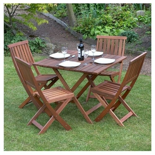 Dining Wooden Table Set Chairs Garden Picnic Patio Furniture Outdoor Folding Wooden Garden Furniture Wooden Garden Table Garden Furniture Sets